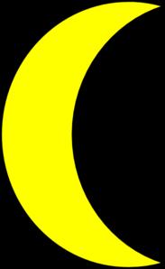 banner stock Moon clipart. Yellow clip art at