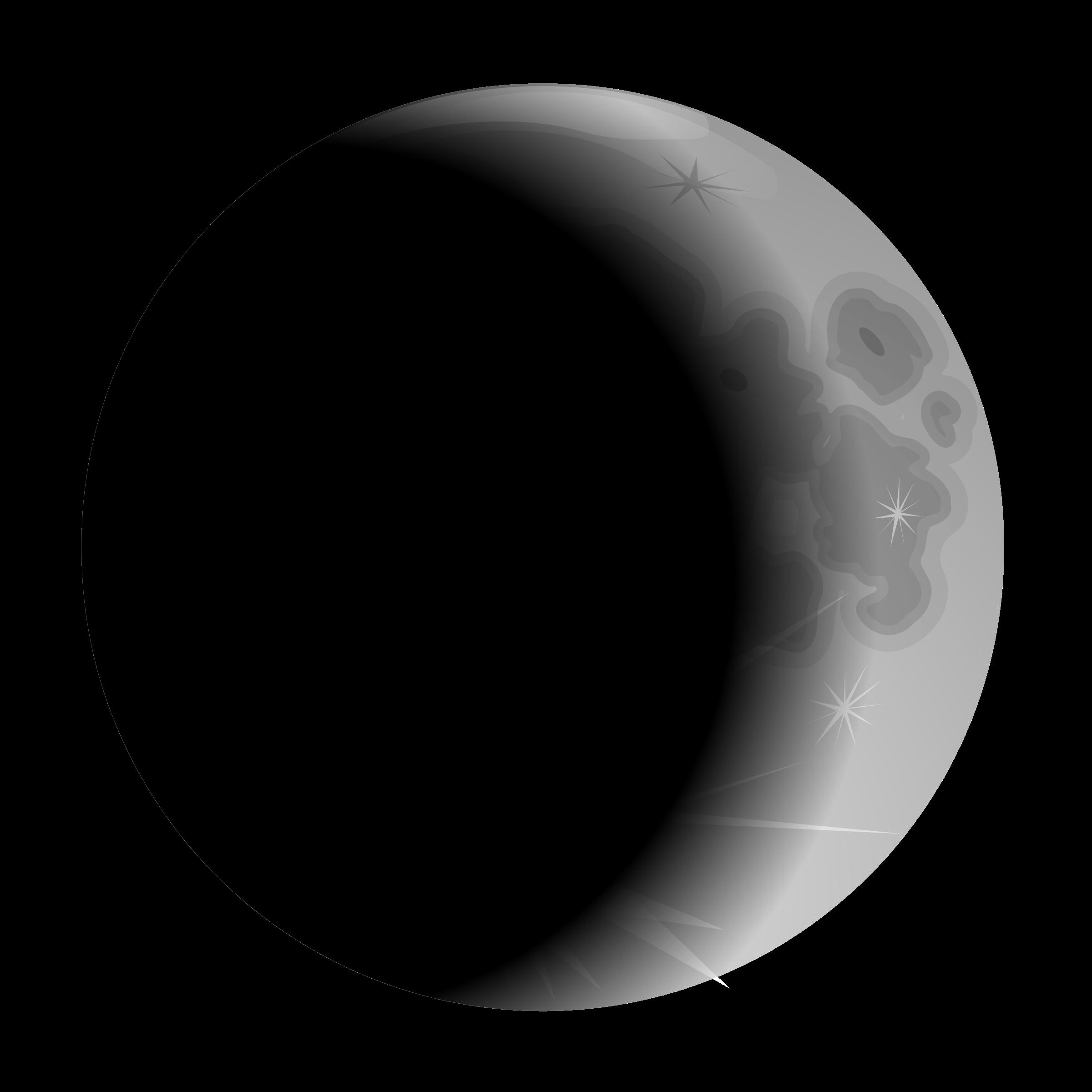 image transparent Moon big image png. Crescent clipart space