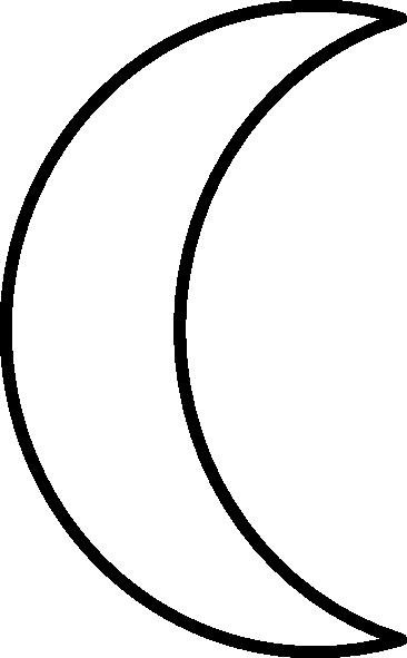 image royalty free stock Crescent clip art panda. Half moon clipart black and white