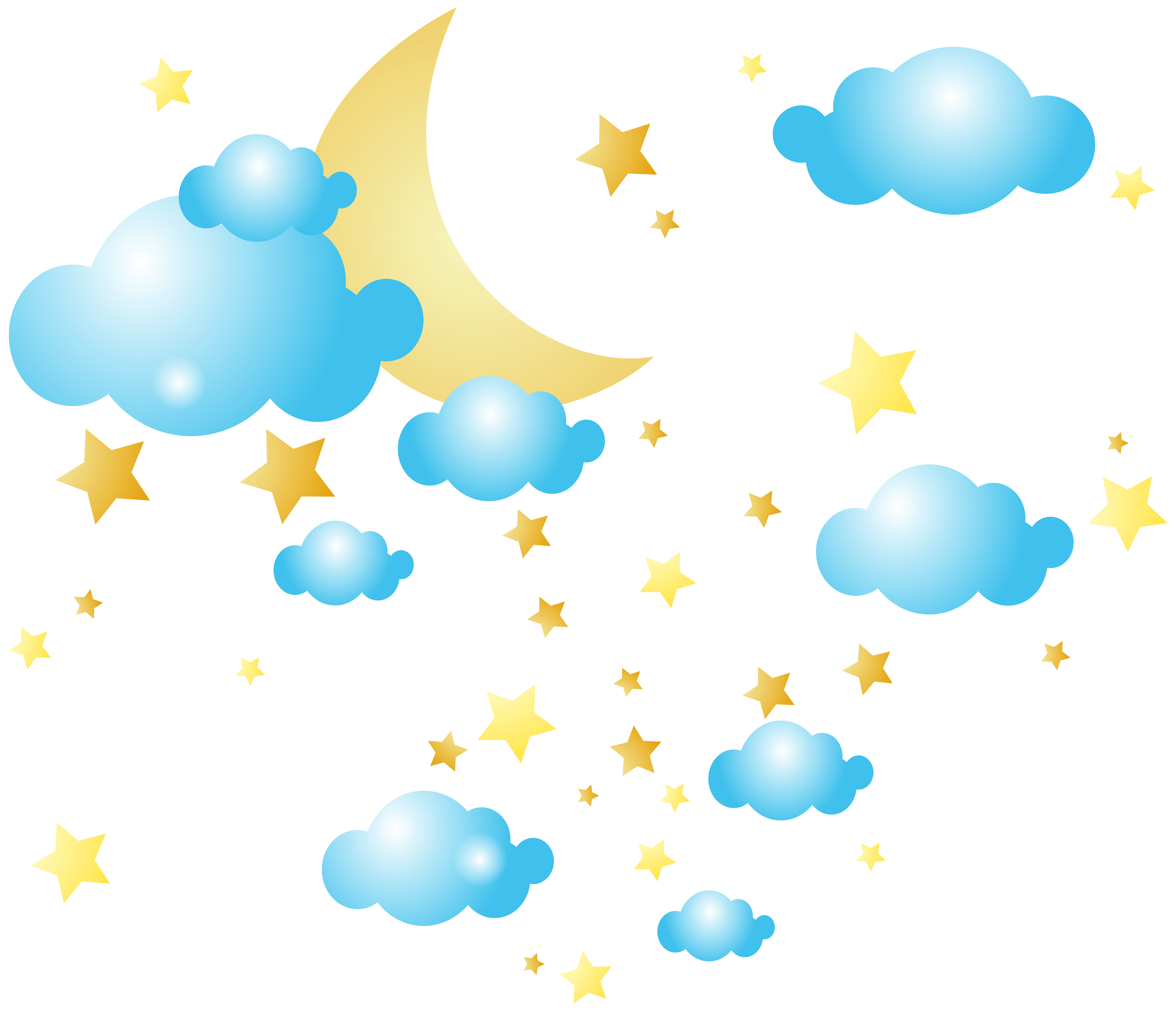 svg free stock Moon clipart sky clipart. Clouds and stars png.