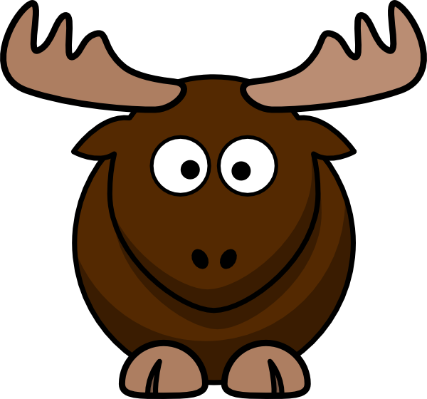 banner transparent Brown Moose Cartoon Clip Art at Clker