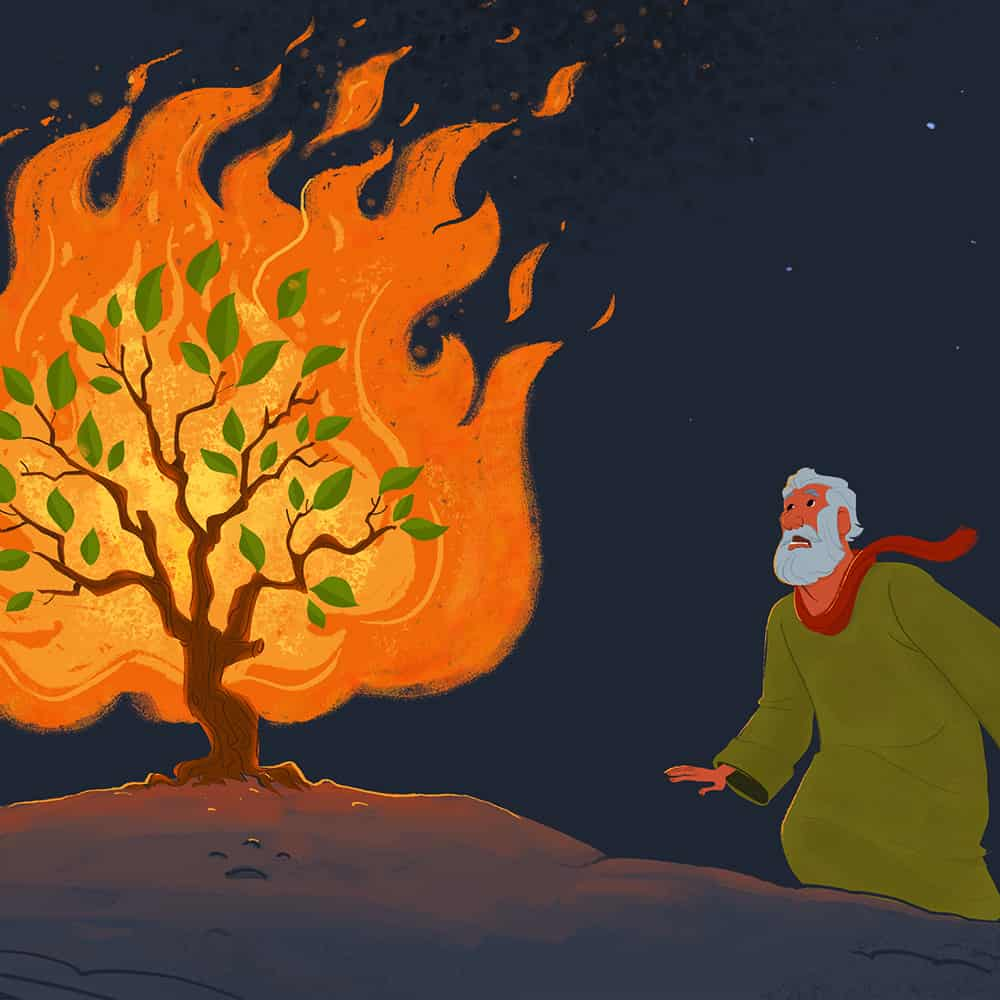 banner black and white download Free bible activities on. Clipart moses and the burning bush.
