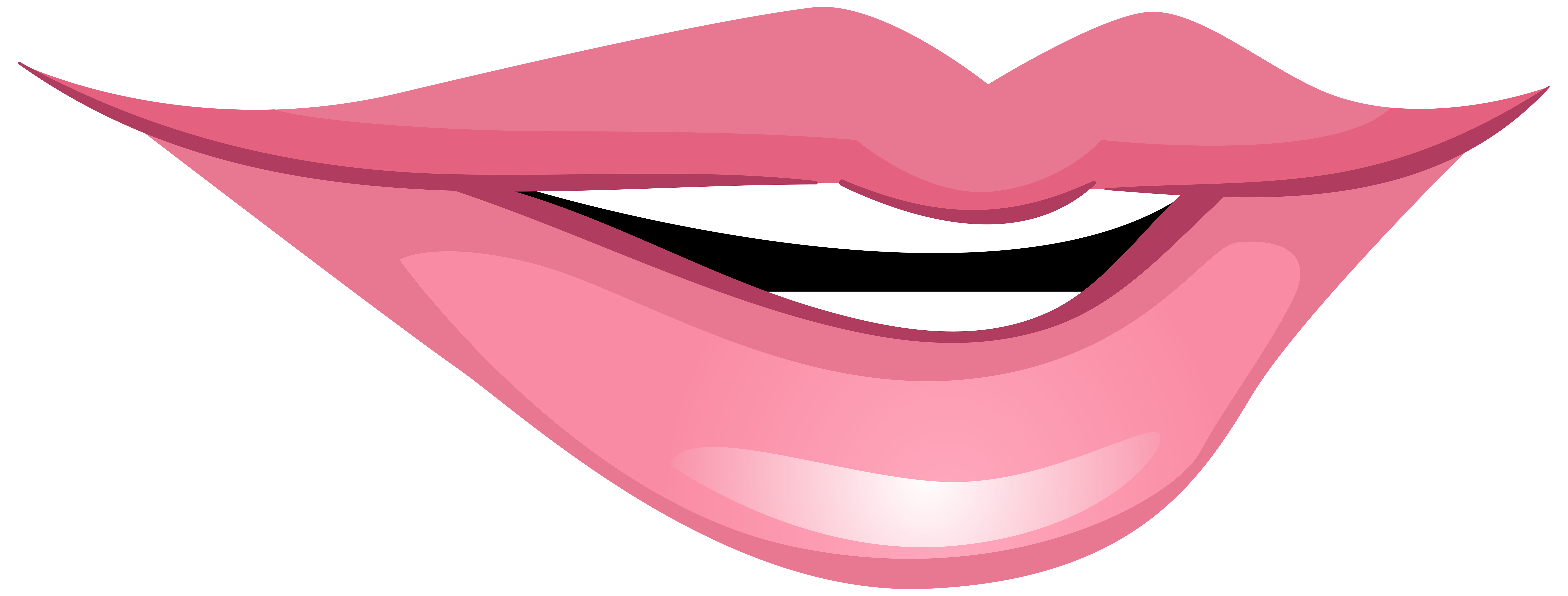 clip royalty free stock Pink smiling png clip. Mouth clipart