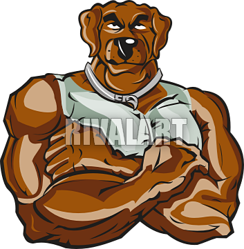 picture free Muscle . Walking dog clipart