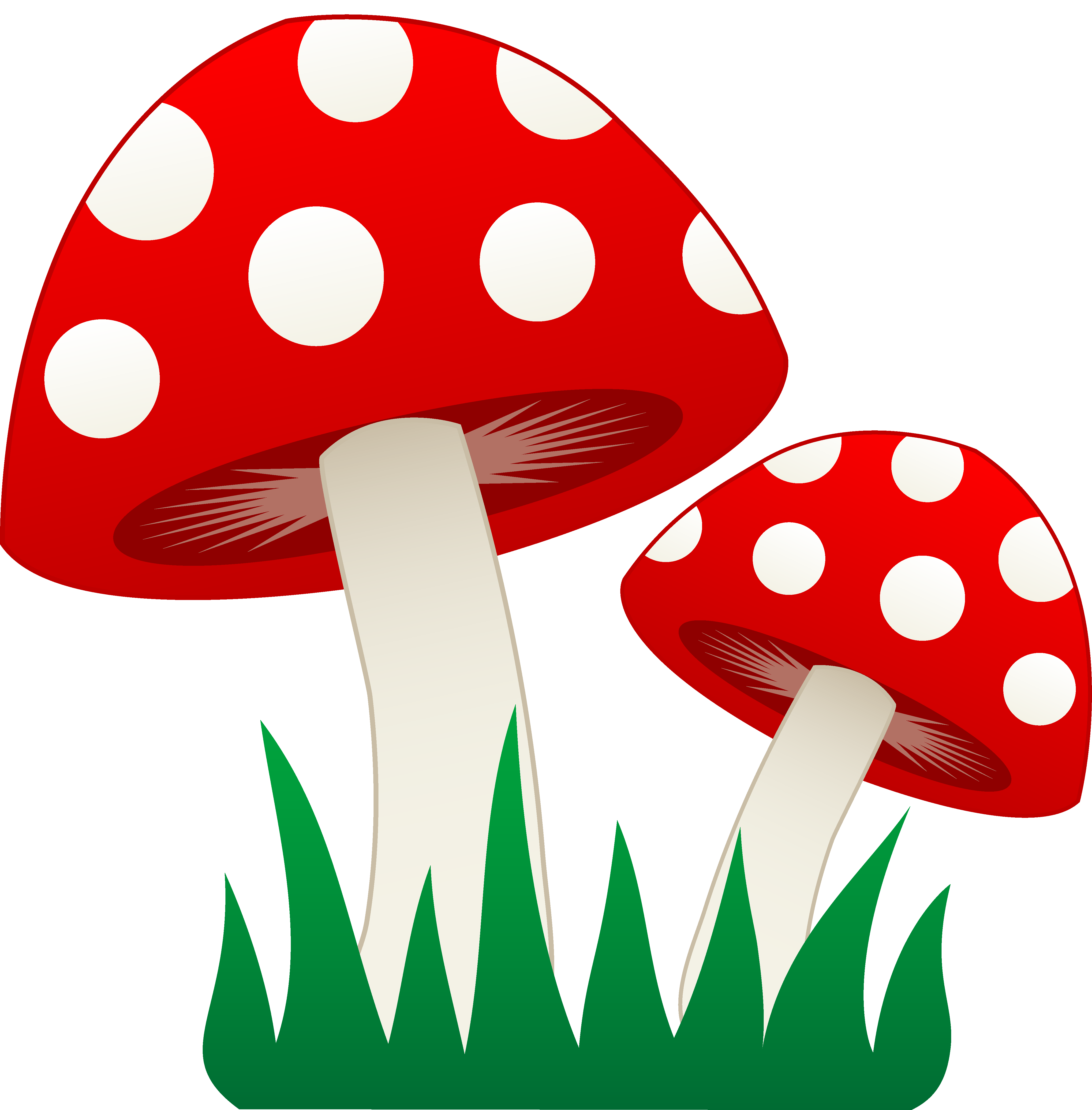 png freeuse stock Mushrooms clipart. Image group red and