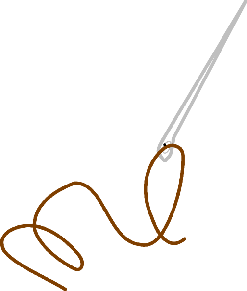 image black and white library Needle And Thread Clip Art at Clker