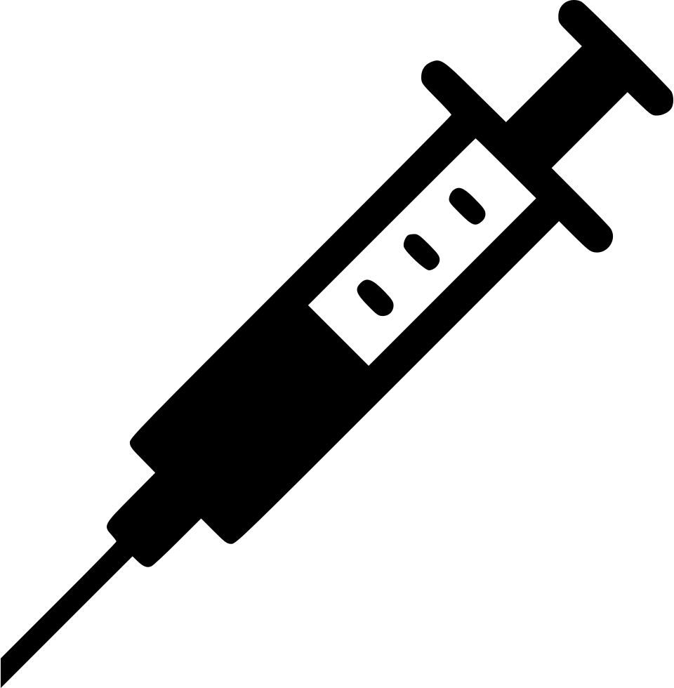 png black and white Computer icons syringe vaccine. Needle transparent vaccination