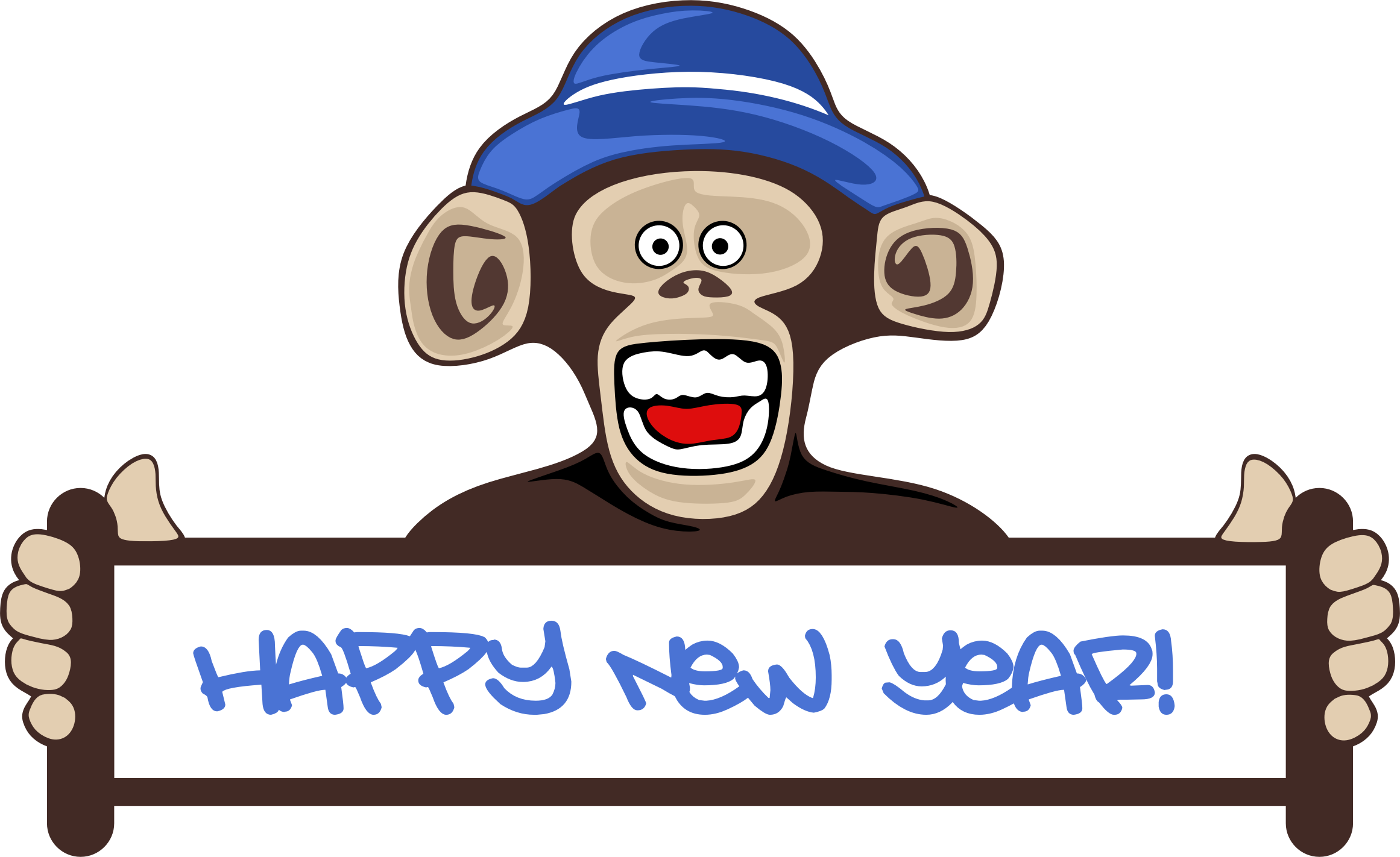 clip art black and white download Happy New Year Clipart