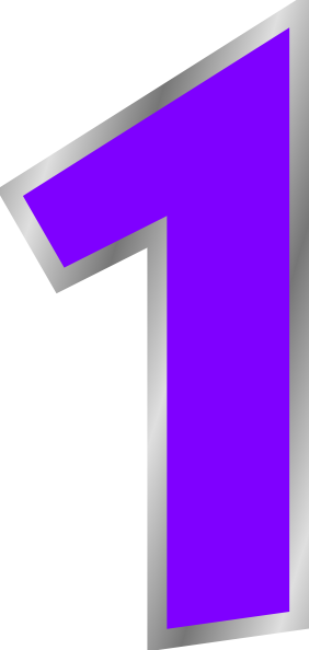 clip art royalty free library Vector 1 number. Purple clip art at