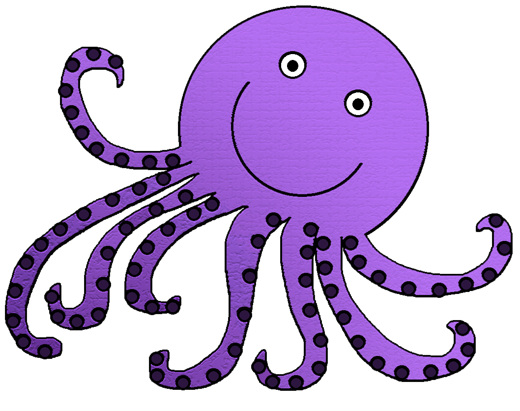 transparent stock Octopus clipart. .