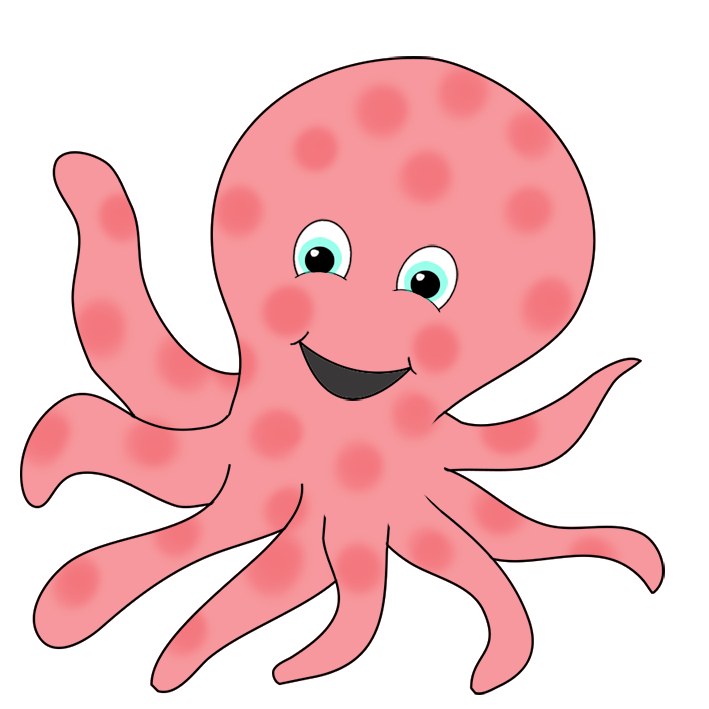 clipart black and white library octopus clipart clipart clip art for students