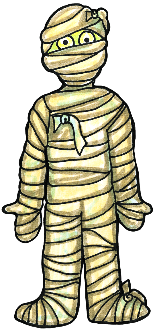 graphic royalty free library clipart of a mummy #55131661