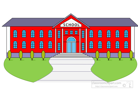 svg royalty free  of a clipartlook. School building clipart.