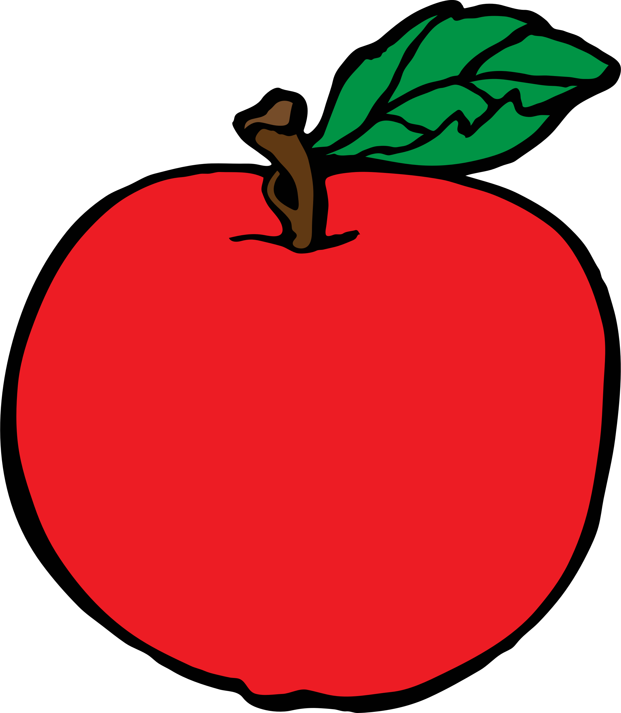 picture royalty free library Red apples clipart. Apple big image png