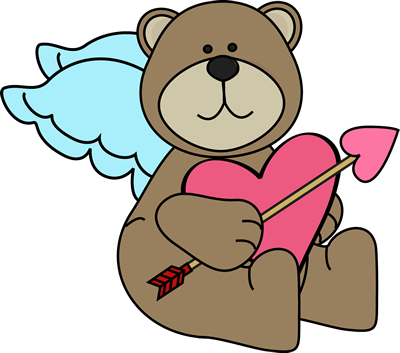 picture free stock Clipart of bear. Cupid pencil and in
