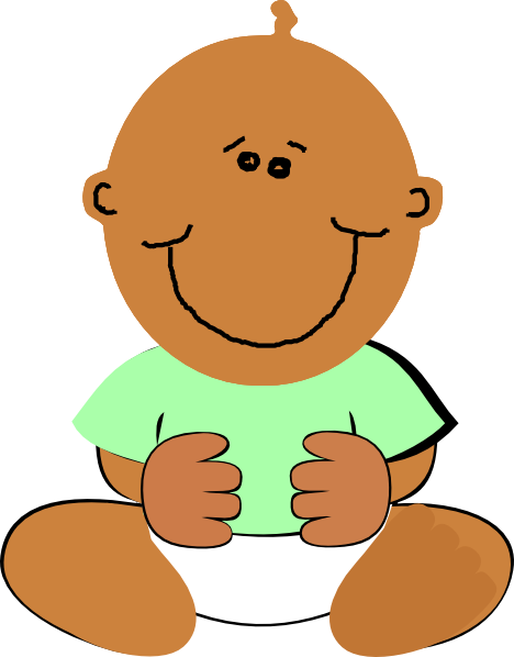 graphic transparent library African American Baby Clipart
