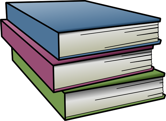 image black and white library Stack Of Books Clipart