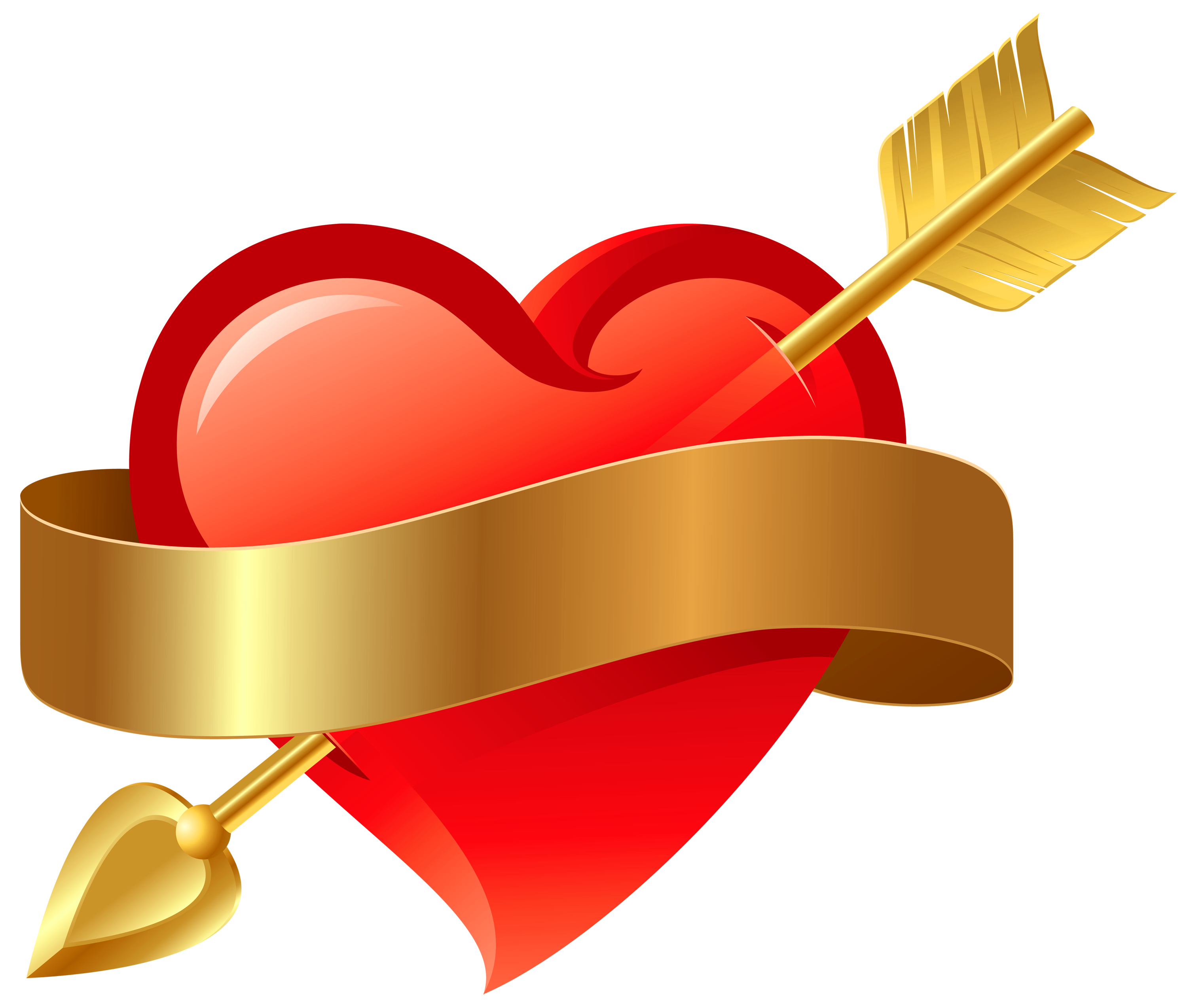 clip black and white download Heart and arrow clipart. Red with png gallery.