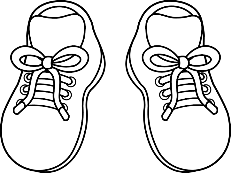 graphic free Running Shoes Clipart line art