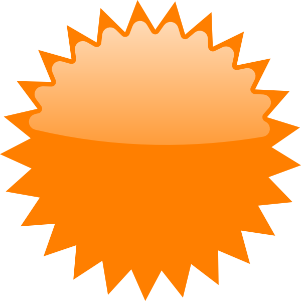 royalty free stock Orange Star Price Tag Clip Art at Clker