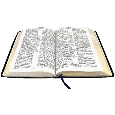 banner black and white library Open Bible transparent PNG