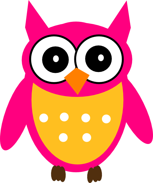picture royalty free stock Pink Yellow Owl Clip Art