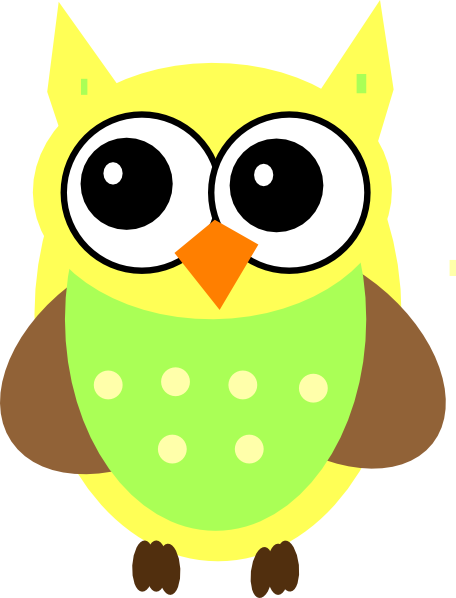 graphic freeuse Vector baby owl. Yellow clip art at