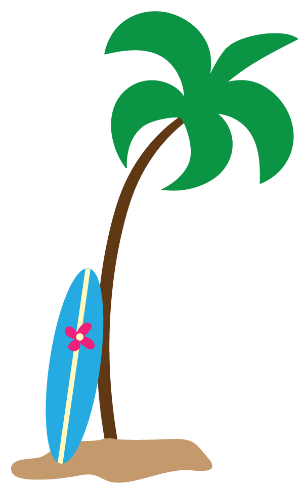 png free stock Palm Trees On The Beach Clipart