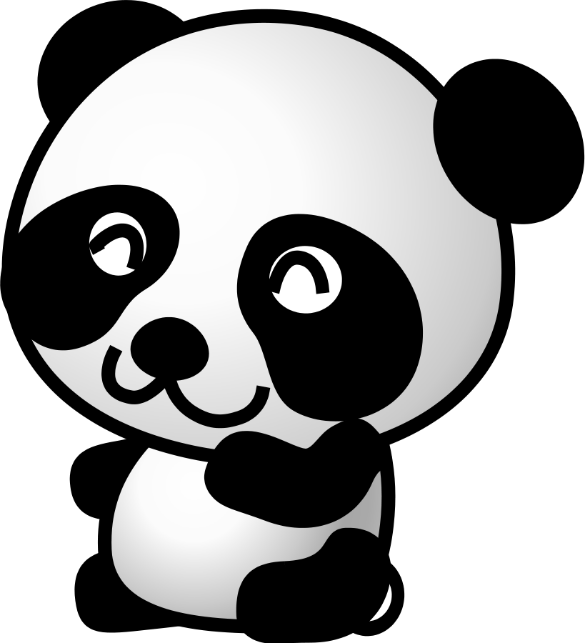 jpg free panda clipart images panda face clipart black and white clipart