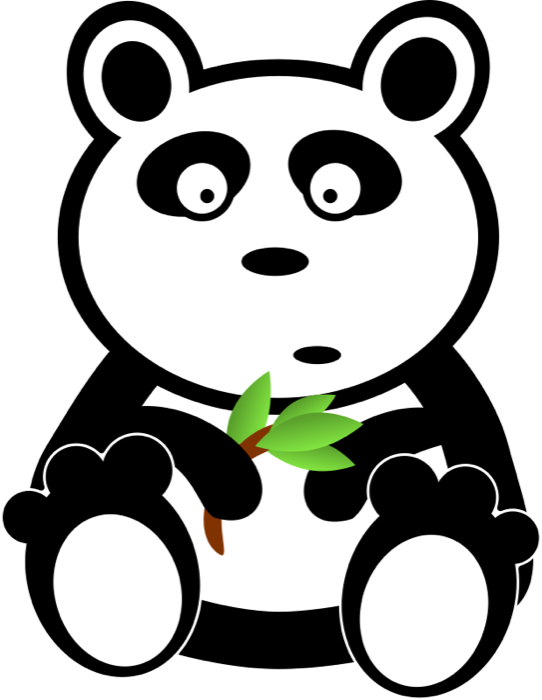 graphic transparent download Panda bear clipart. Cute animations shocked