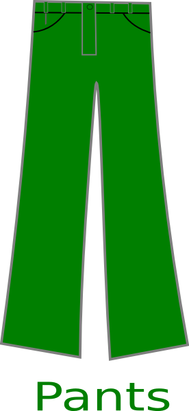 clip art freeuse library Green pants . Boy clipart trousers