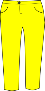 banner free stock Yellow . Pants clipart.