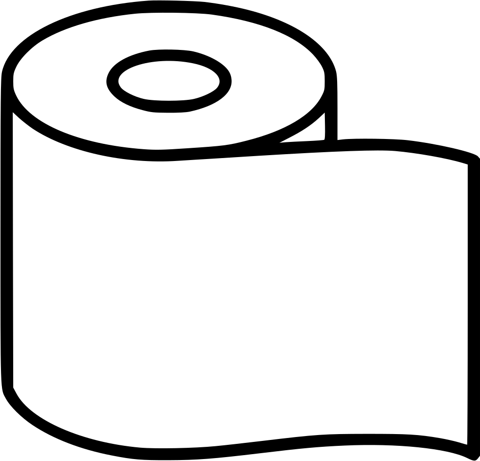 png black and white Toilet Paper Clipart
