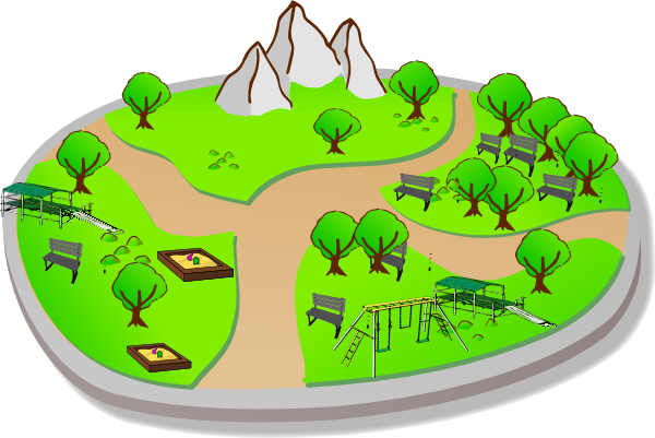 clip art royalty free library City Park Clip Art at Clker