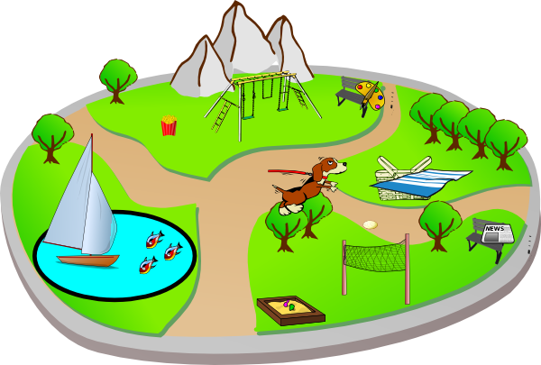 svg royalty free Park clipart cartoon. City sign
