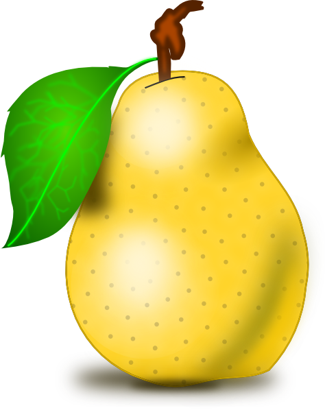 freeuse Pear Clip Art at Clker