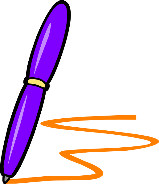 clipart royalty free download Pen purple free on. Writing notes clipart.