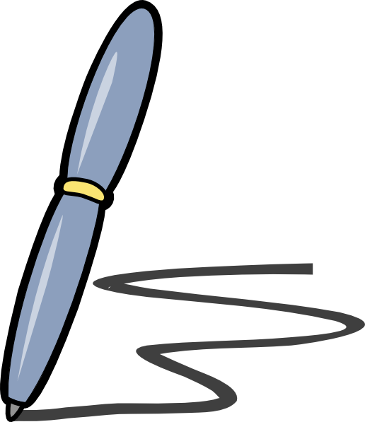 png transparent library Pen clip art at. Handwriting clipart handwriting book