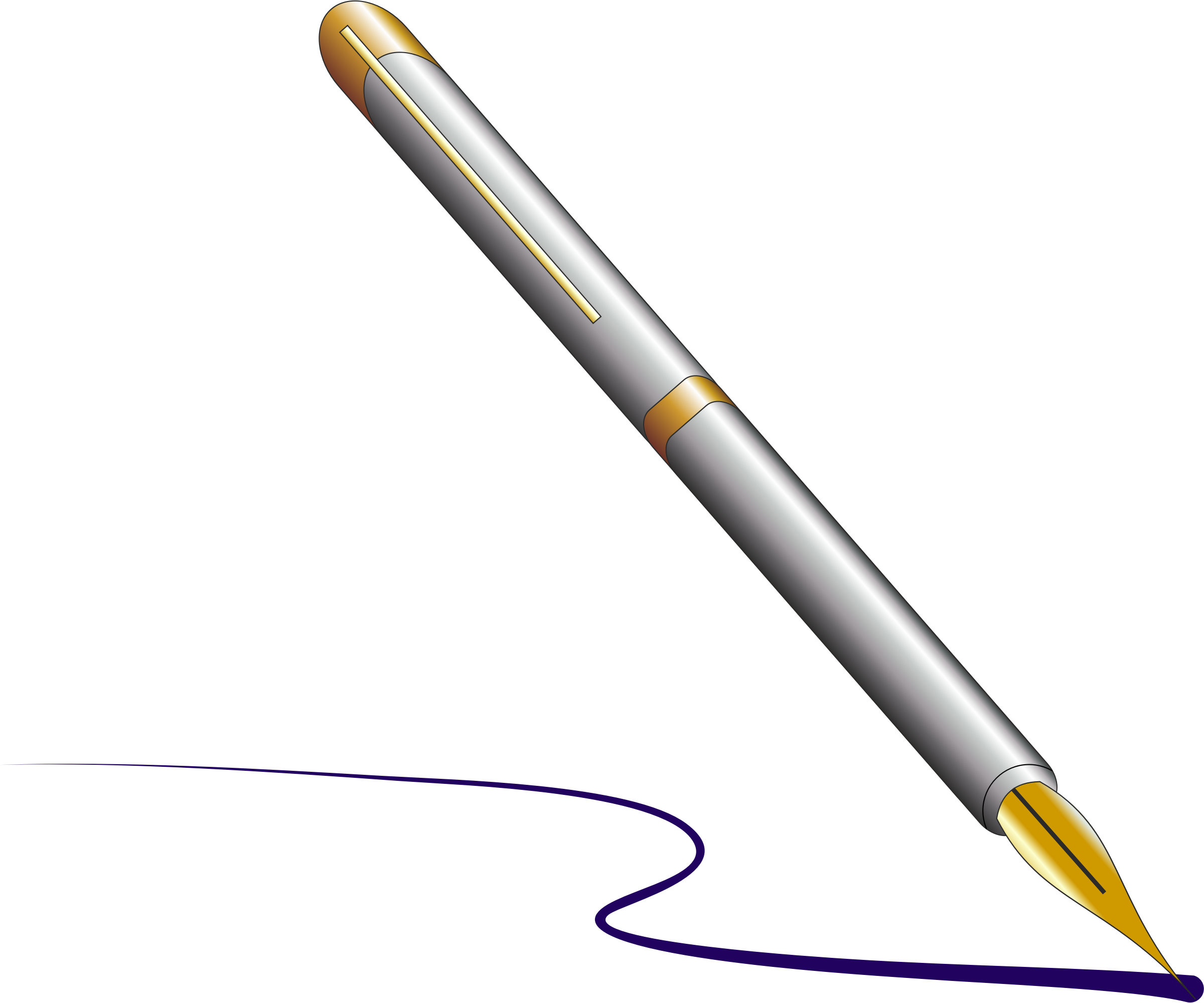 png free download Pen writing clipart. Fountain with ink big.
