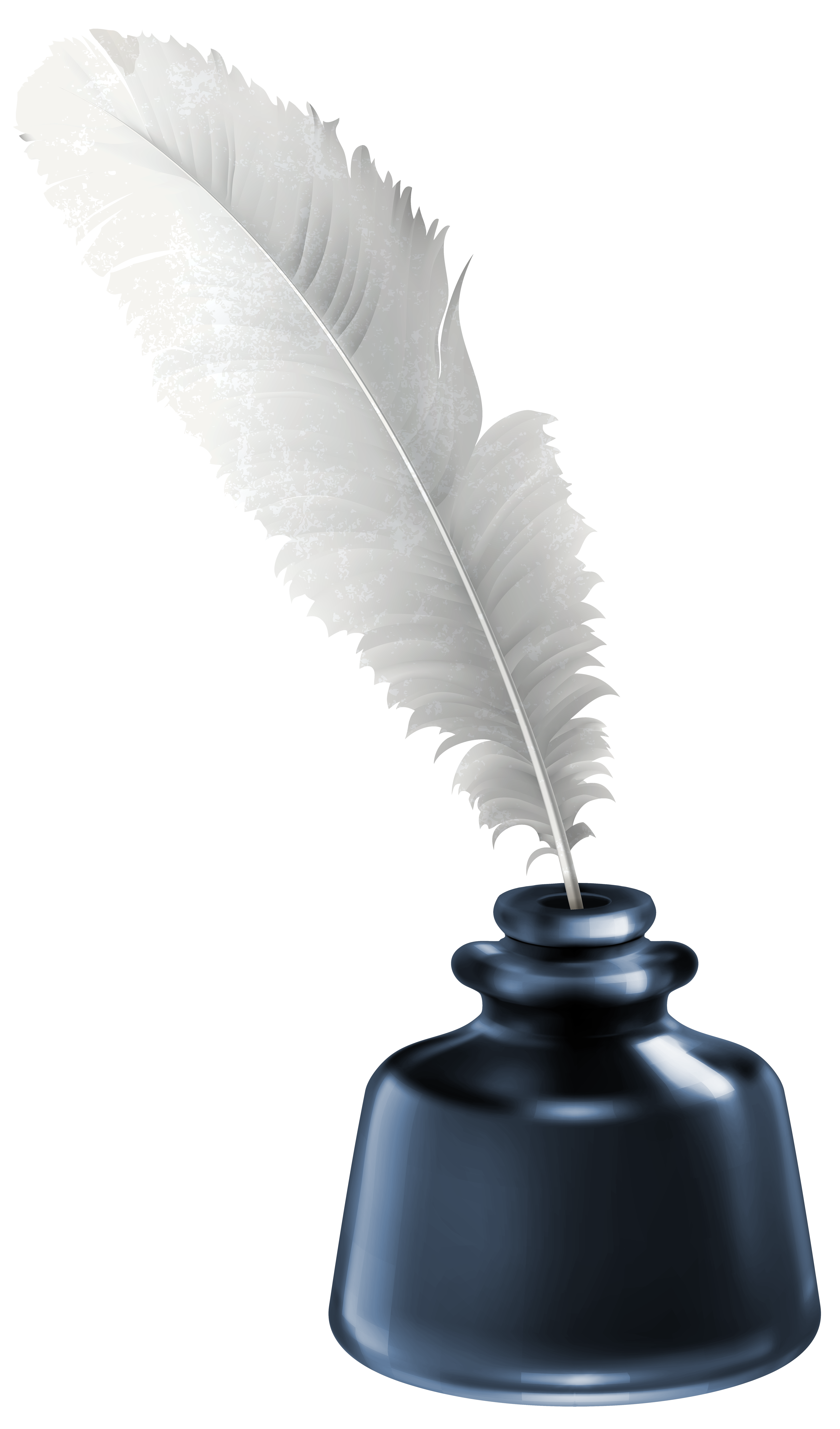 image free Writer clipart quill. And blue ink pot