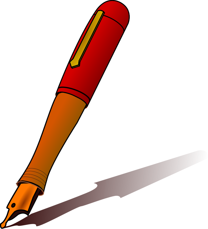 picture free stock Fountain pen clip for. Clipart art supplies.