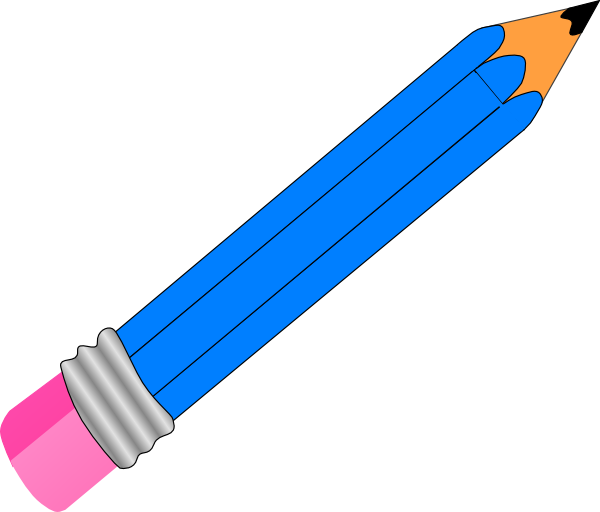 library Blue Pencil Clipart