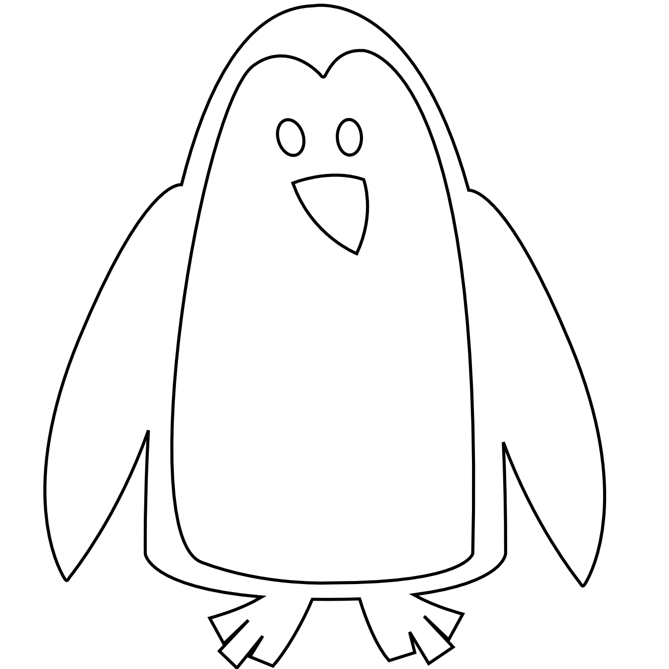 svg freeuse stock Penguin Clip Art Black And White