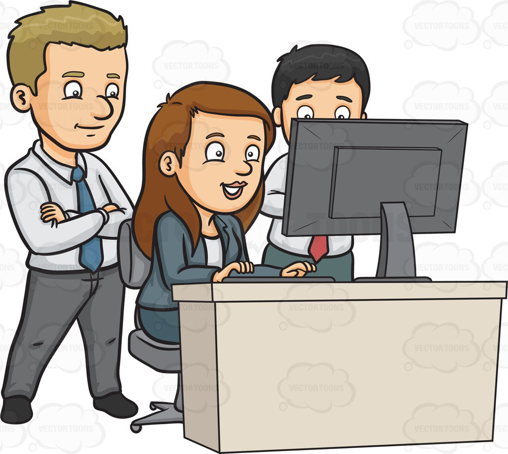 jpg transparent library Portal . Clipart people working.