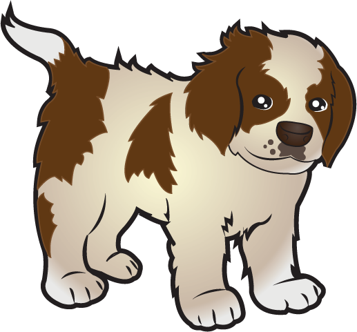 image royalty free library Free clip art animals. Puppies clipart