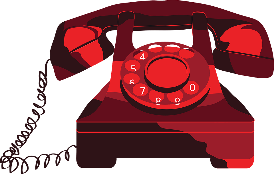 free stock Phone clipart. Red telephone transparent png.