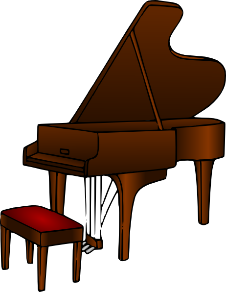 clipart library download Brown . Piano clipart.