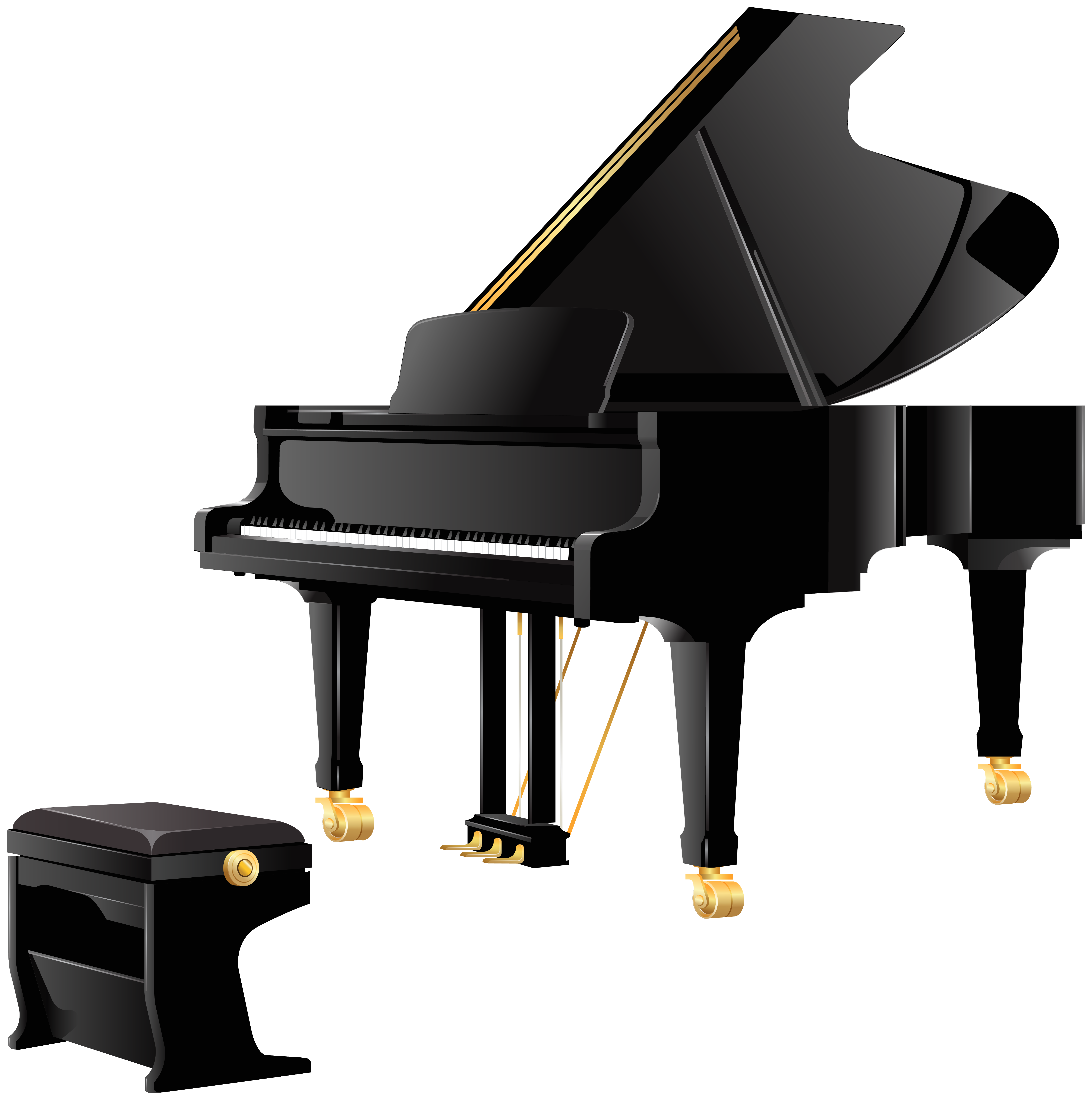 vector black and white library Clipart piano keyboard. Royal grand png best