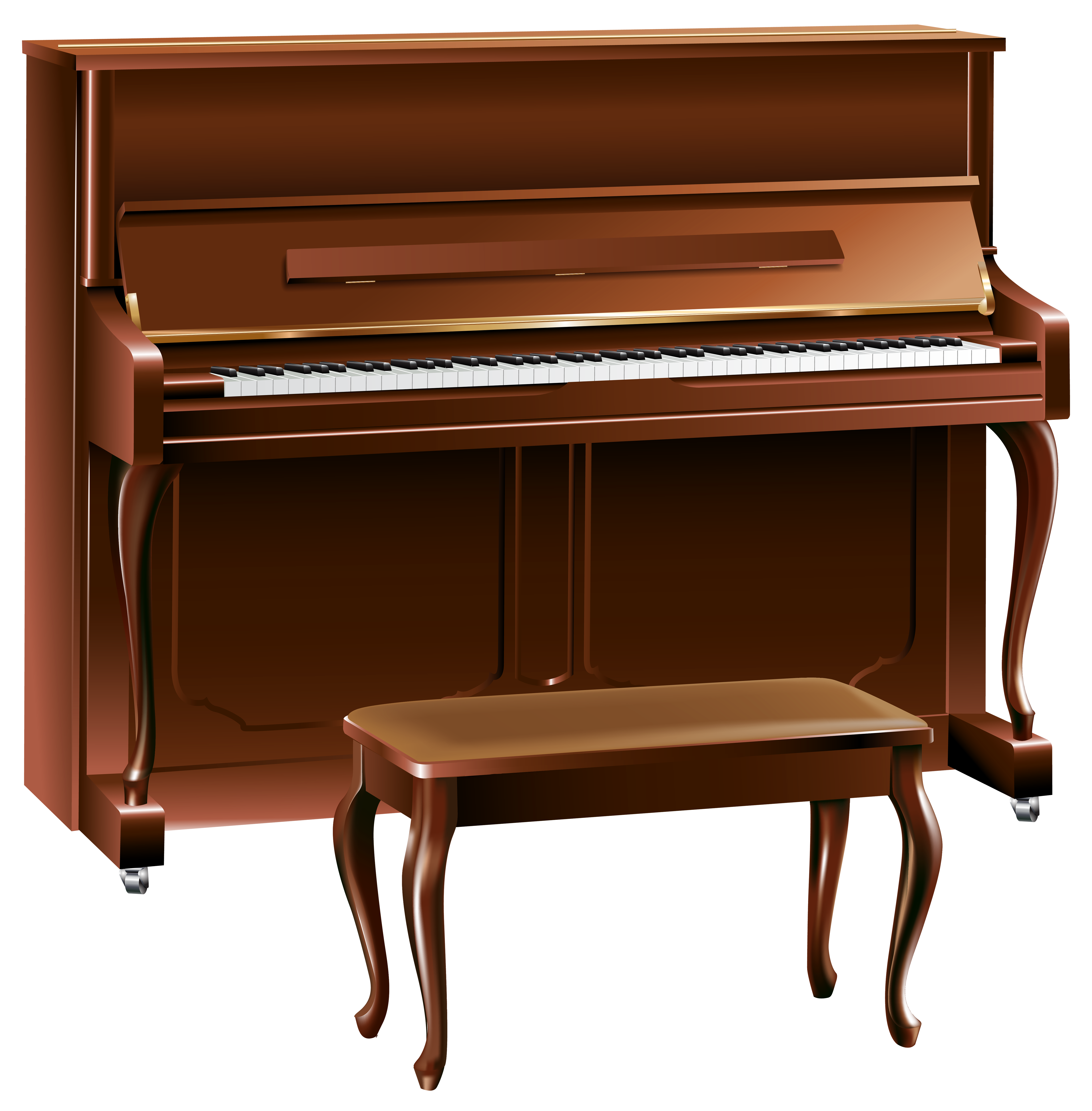 banner free Piano clipart. Brown png best web.