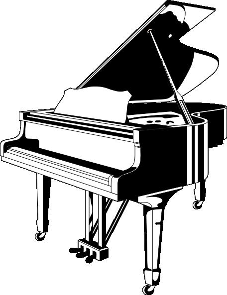 clip black and white stock Grand Piano Clip Art at Clker